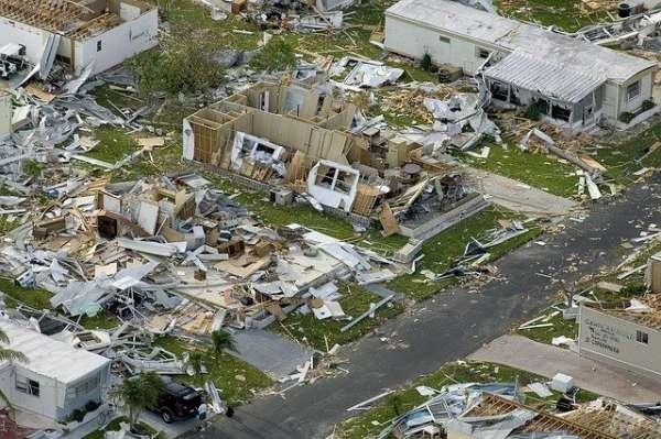 Destrozos causados por un huracán