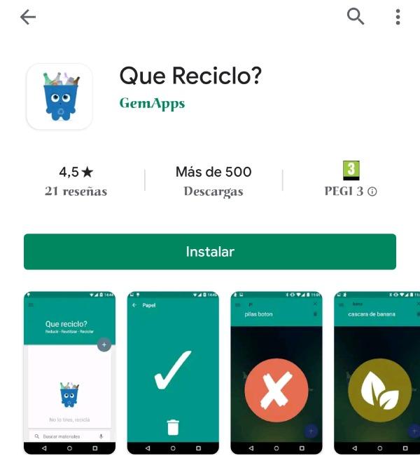 App ¿Qué reciclo?