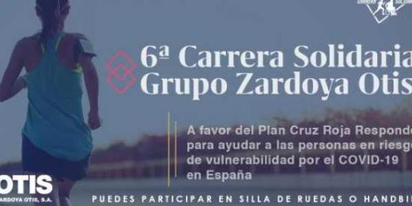 Carrera solidaria virtual a favor de Cruz Roja Responde