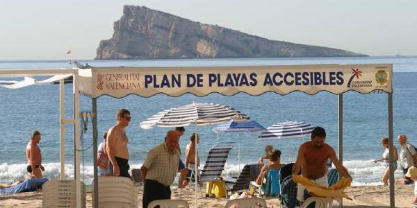 Playa adaptada y accesible en Benidorm.